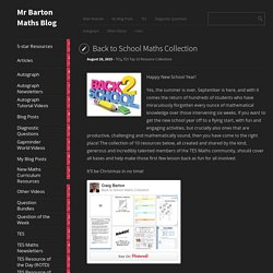 Back to School Maths Collection
