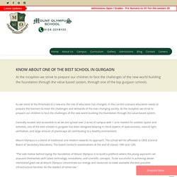About MountOlympus School Gurgaon