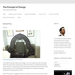 School Plus | The Principal of Change