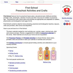Preschool Activities and Crafts