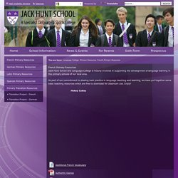 Jack Hunt School - French Primary Resources