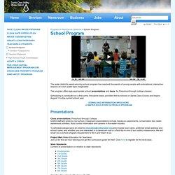 School Program - Santa Clara Valley Water District