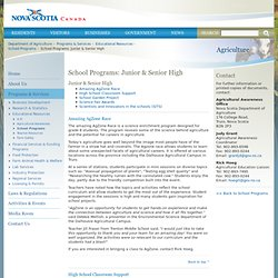 School Programs: Junior & Senior High