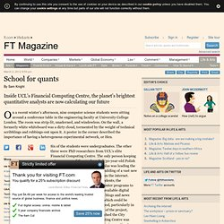 School for quants