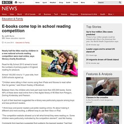E-books come top in school reading competition