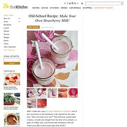 Old-School Recipe: Make Your Own Strawberry Milk!