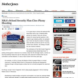 NRA's School Security Plan Cites Phony Shooting