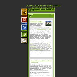 High School Senior Scholarships