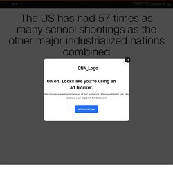 School shootings in the US compared with the rest of the world
