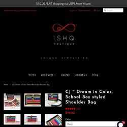 CJ ~ Dream in Color, School Box styled Shoulder Bag – Ishq Boutique