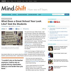 What Does a Great School Year Look Like? Ask the Students