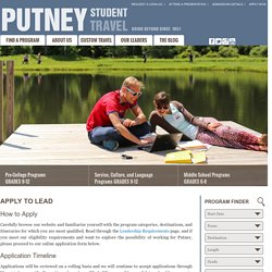 Apply to Lead a High School Summer Travel Program