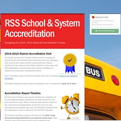 RSS School & System Acccreditation