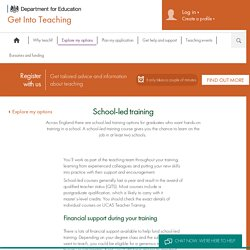 DfE Get Into Teaching