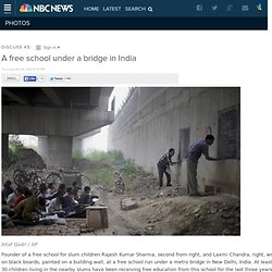 A free school under a bridge in India