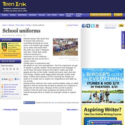 Argumentative Essay On Uniforms In Public Schools
