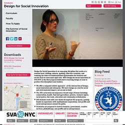 School of Visual Arts  > Graduate  > Design for Social Innovation