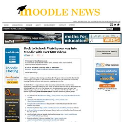 Back to School: Watch your way into Moodle with over 600 videos