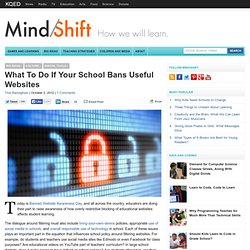 What To Do If Your School Bans a Useful Website