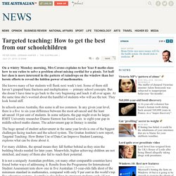 Targeted teaching: How to get the best from our schoolchildren