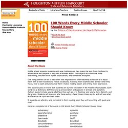100 words every high schooler should know pdf
