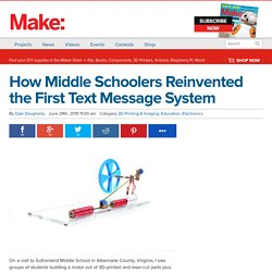 How Middle Schoolers Reinvented the First Text Message System