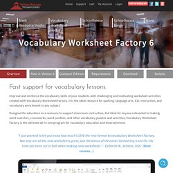 Vocabulary Worksheet Maker for Teachers