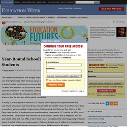 Year-Round Schooling: How It Affects Students - Education Futures: Emerging Trends in K-12