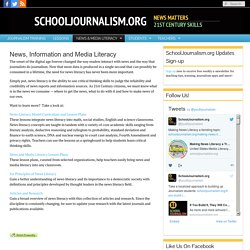 SchoolJournalism.org : News, Information and Media Literacy