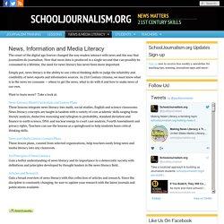 SchoolJournalism.org : News, Information and Media Literacy