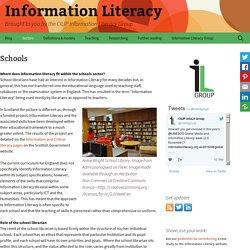 Information literacy - CILIP