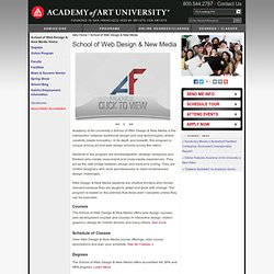 Web Design & New Media Schools | Academy of Art University