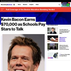 Kevin Bacon Earns $70,000 as Schools Pay Stars to Talk