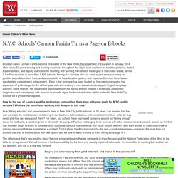 N.Y.C. Schools' Carmen Fariña Turns a Page on E-books