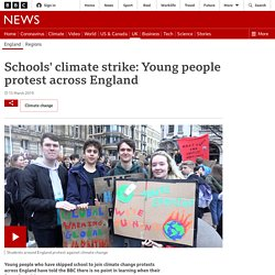 Schools' climate strike: Young people protest across England