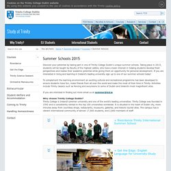 TCD Summer Schools