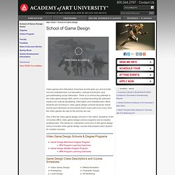 Video Game Design Schools