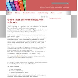 Good ID In Schools - Good inter-cultural dialogue in schools