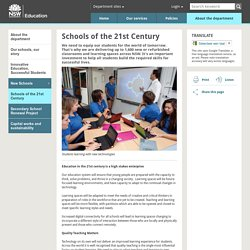 Schools of the 21st Century - NSW Department of Education