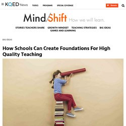 How Schools Can Create Foundations For High Quality Teaching