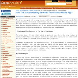 How The Schools Getting Benefited From School Mobile App?