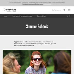 Summer Schools, Goldsmiths, University of London