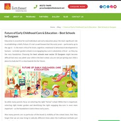 Schools Near Sector 31 Gurgaon - Future of Early Childhoodcare