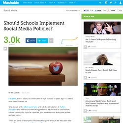 Should Schools Implement Social Media Policies?