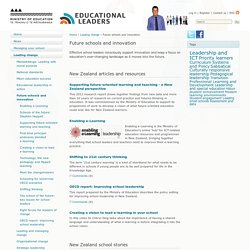 Future schools and innovation / Leading change