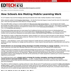 How Schools Are Making Mobile Learning Work