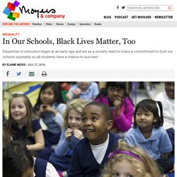 In Our Schools, Very young Black Lives Matter, Too