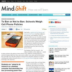 To Ban or Not to Ban: Schools Weigh Cell Phone Policies