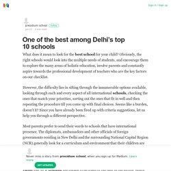 One of the best among Delhi's top 10 schools – presidium school – Medium