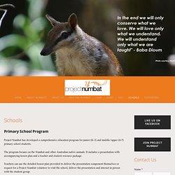 Schools — Project Numbat